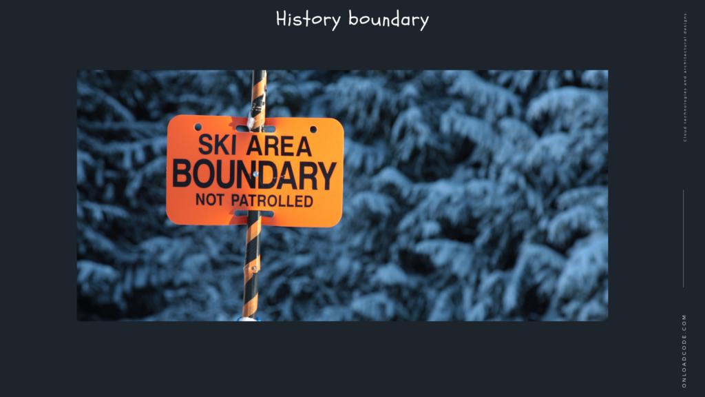 History boundary