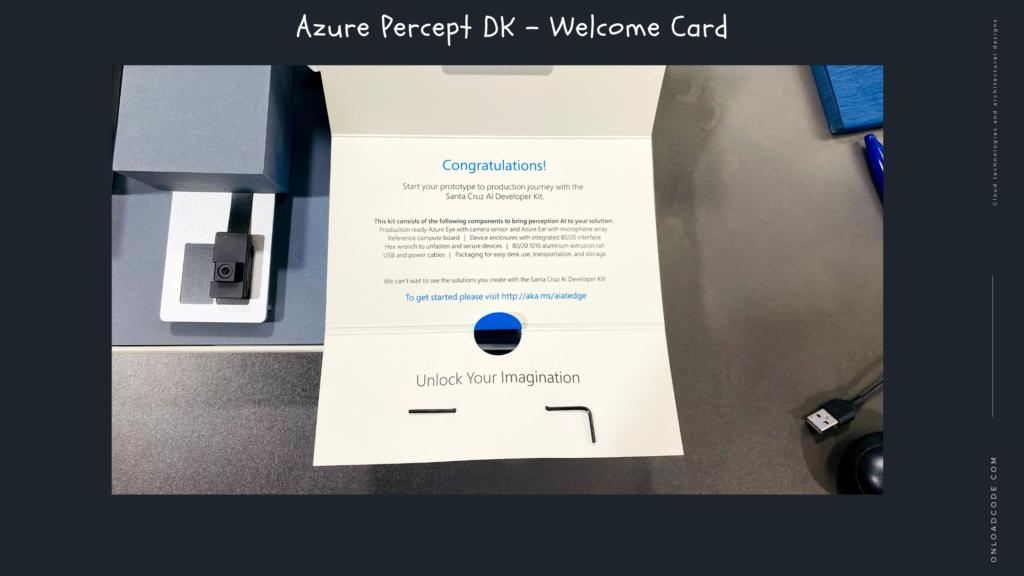 Azure Percept DK - Welcome Card